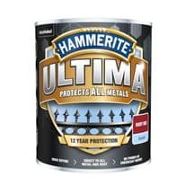 Hammerite Ultima Smooth Metal Paint - 750ml Ruby Red